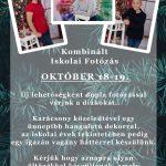 Kombinált iskolai fotózás – október 18-19-én!